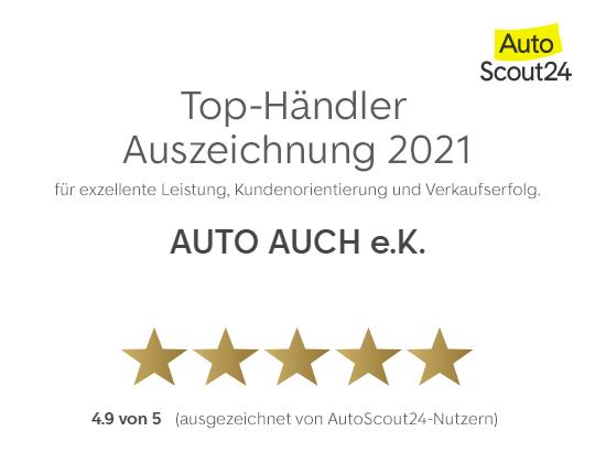 Auszeichnung von AutoScout24 Nutzern